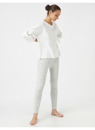 Koton Pyjamas Knıt Bottoms Gri